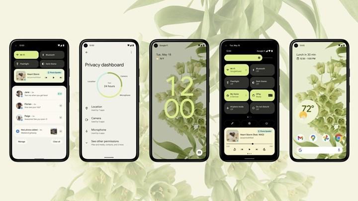 Android 12 tasarım