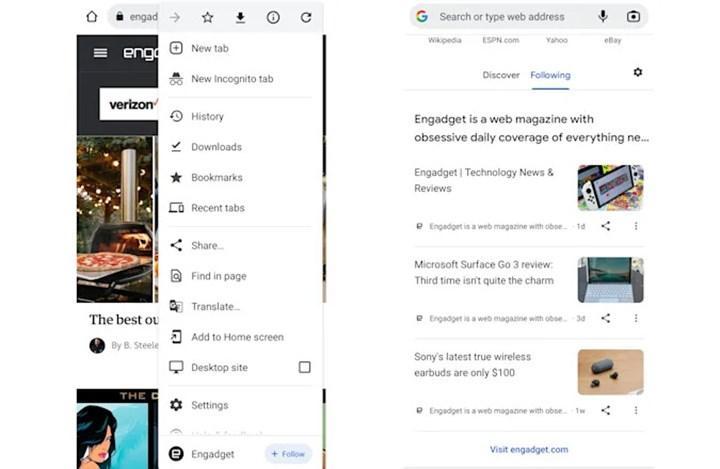 Android için Chrome'a Takip Et özelliği geliyor
