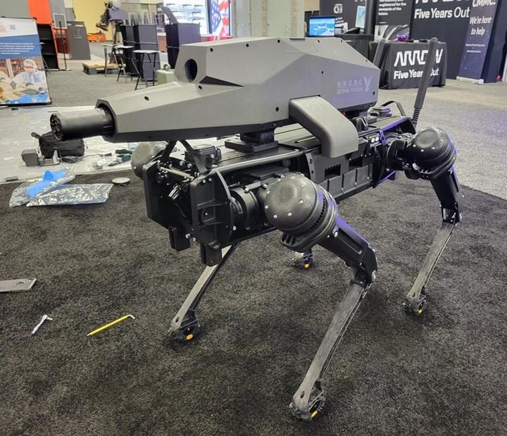 Robot köpeklere silah monte edildi