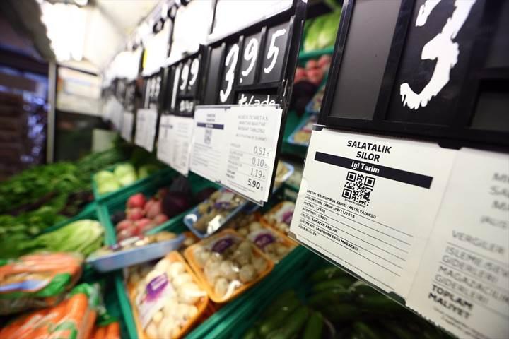 Marketteki meyve ve sebzelerin üretim yeri, hal fiyatı ve diğer bilgileri bu uygulamada
