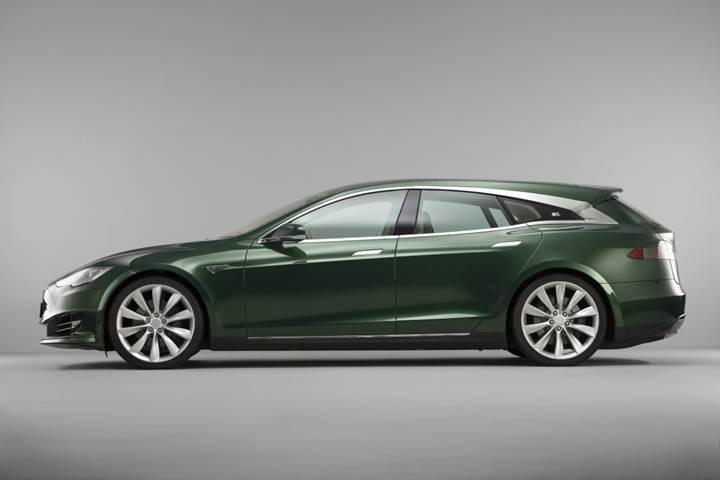 Tesla Model S, özel yapım olarak station wagon'a dönüştürüldü