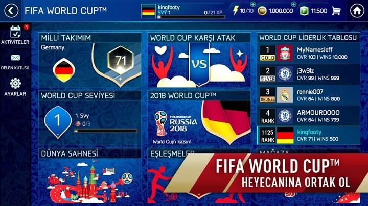 FIFA Mobile için 2018 Dünya Kupası güncelleştirmesi yayınlandı