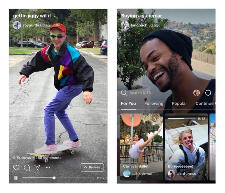YouTube'a dişli bir rakip geldi: Instagram IGTV duyuruldu!