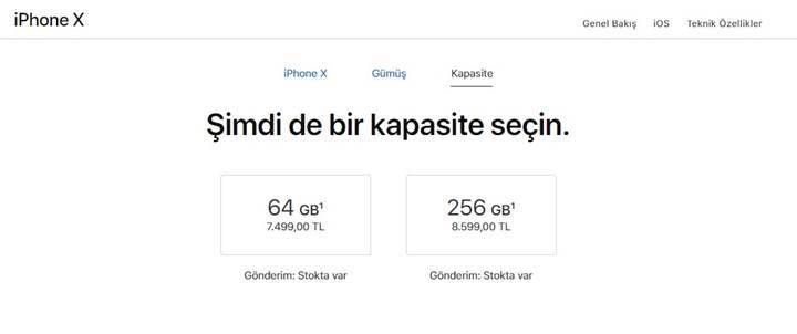 Apple'dan büyük zam: iPhone X 7500 TL oldu!