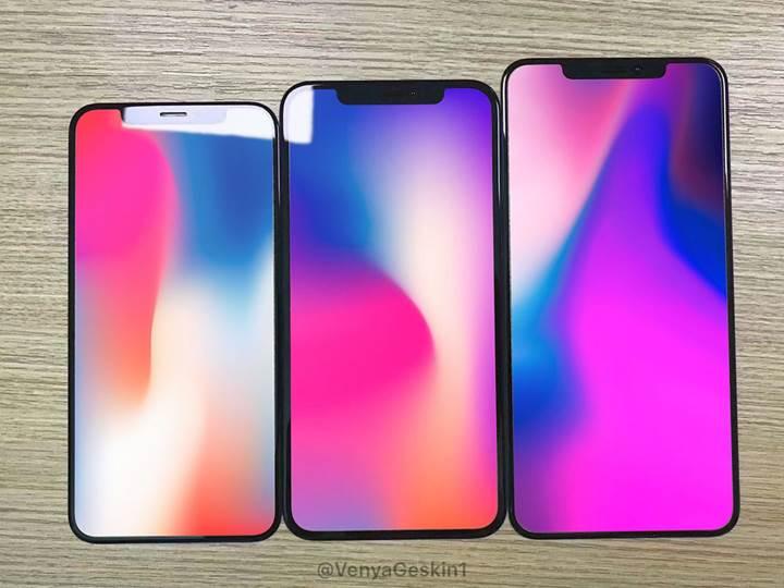 Yeni iPhone'ların sızan ekran panelleri, modellerin boyut farkını ortaya koyuyor