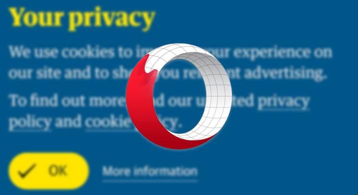 Opera tarayıcısına çerez bildirimi engelleme özelliği geldi