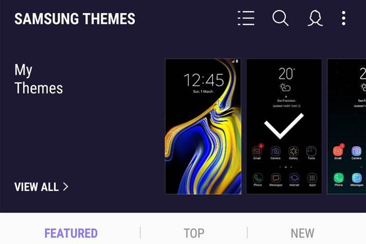 Samsung ücretsiz tema kullanımına sınırlama getiriyor