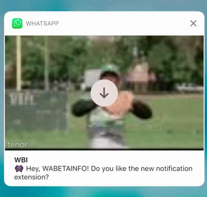WhatsApp'ın iOS sürümüne bildirim panelinde video oynatma özelliği geliyor
