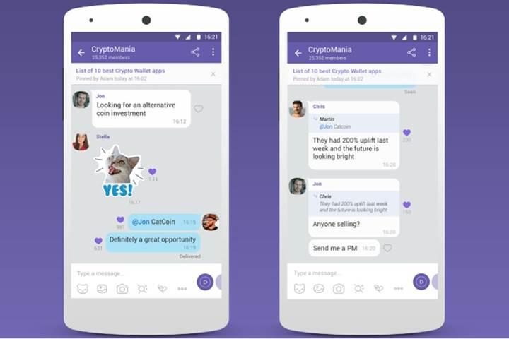 Viber'a 1 milyar kişilik grup sohbeti geldi