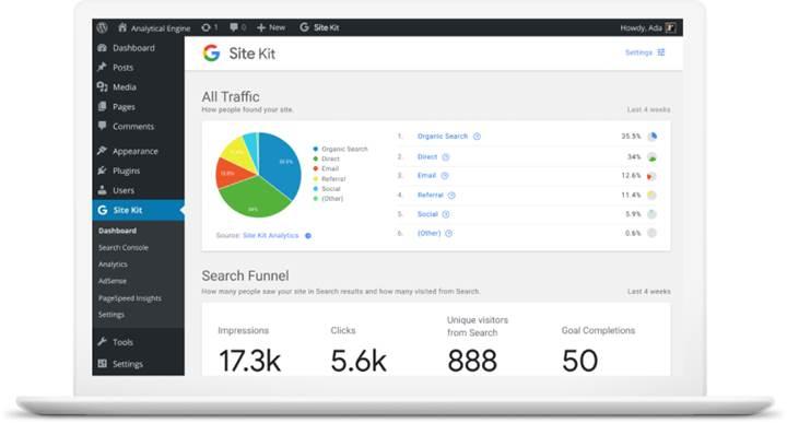 Google'dan WordPress için ilk eklenti