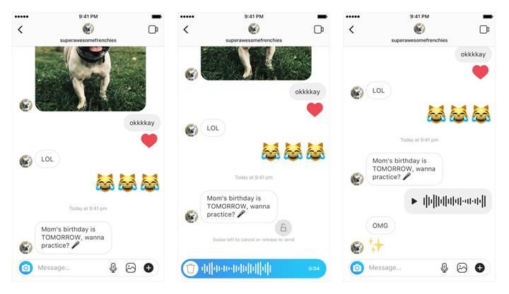 Instagram'a sesli mesajlaşma özelliği geldi