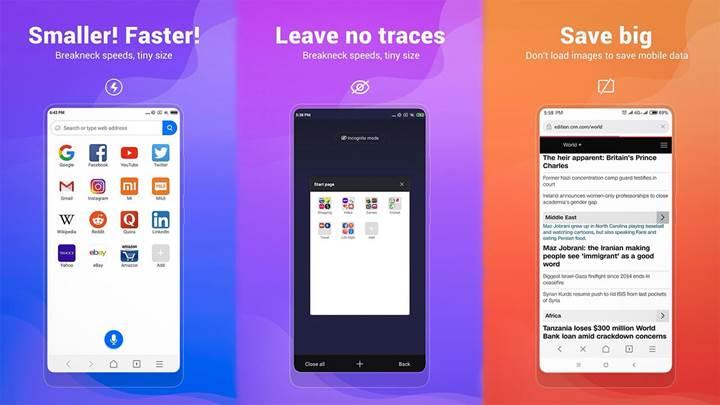 Xiaomi'den internet tarayıcısı geldi: Mint Browser ile tanışın