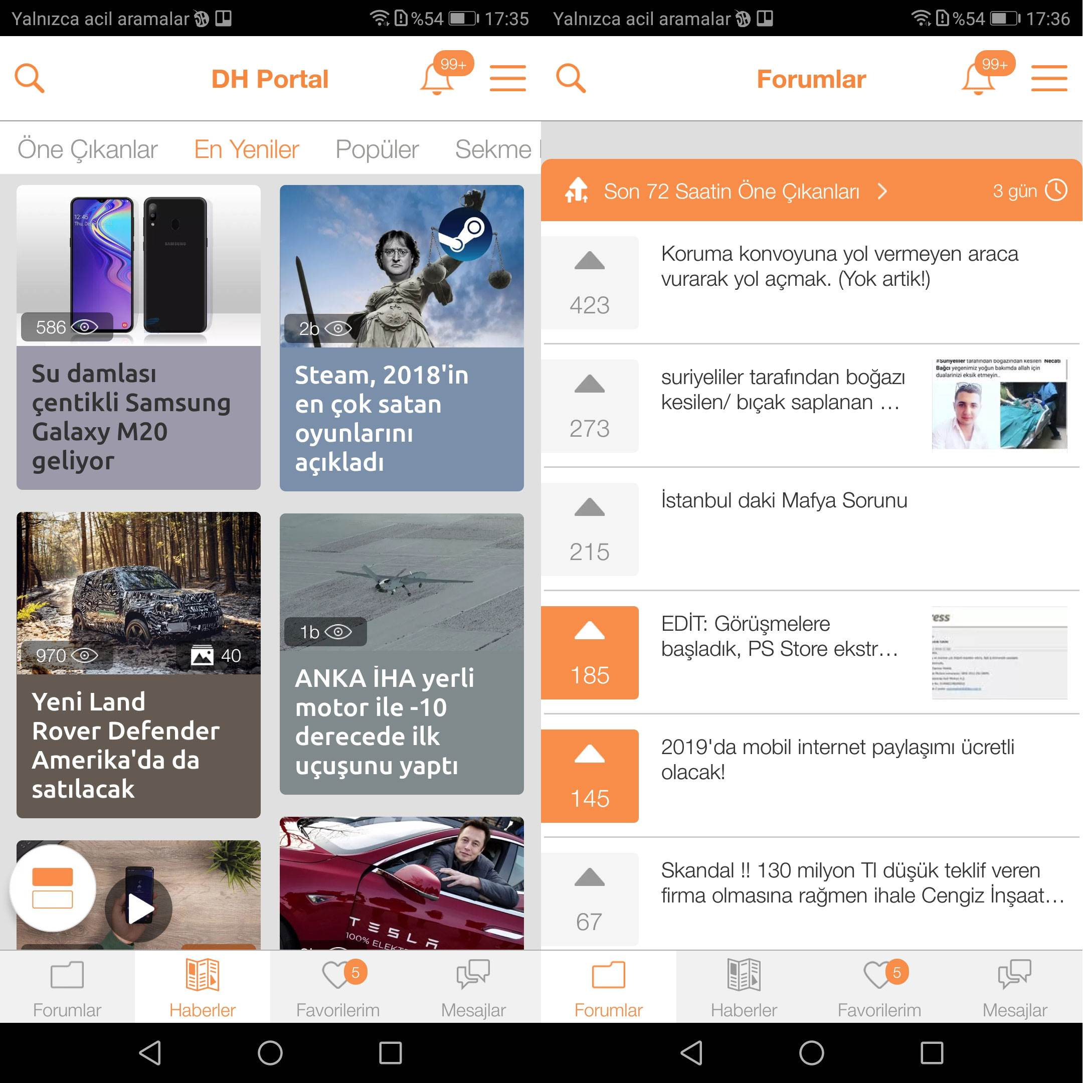 Reklamsız DonanımHaber deneyimi sunan DH uygulamasının yeni sürümü artık daha hızlı