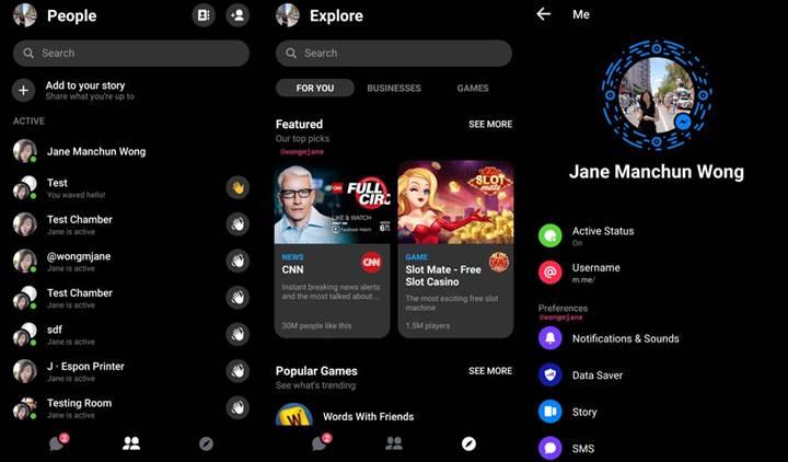 Facebook Messenger uygulamasına karanlık mod özelliği geliyor
