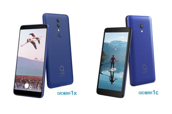 Giriş seviyesi Alcatel 1X ve 1C akıllı telefonları duyuruldu