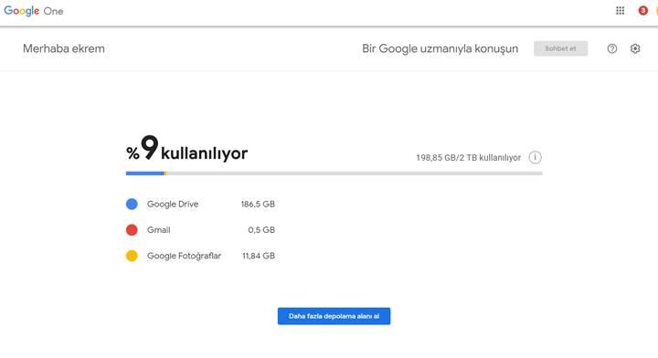 Google One geçişi ülkemizde başladı