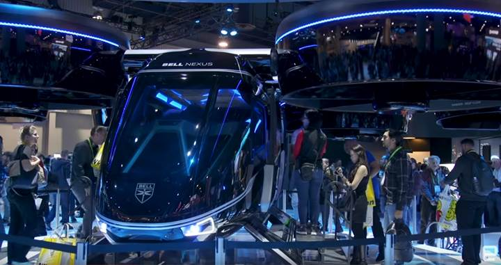 Bell, Avatar filminden fırlamış gibi görünen hava taksisi Nexus'u tanıttı