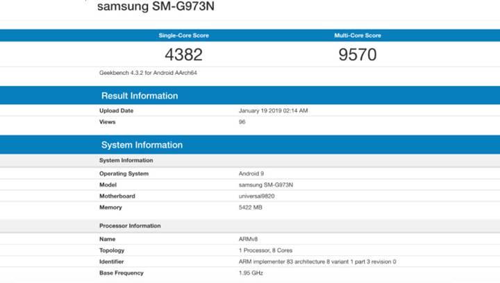 Exynos 9820'li Galaxy S10 Geekbench'te görüntülendi