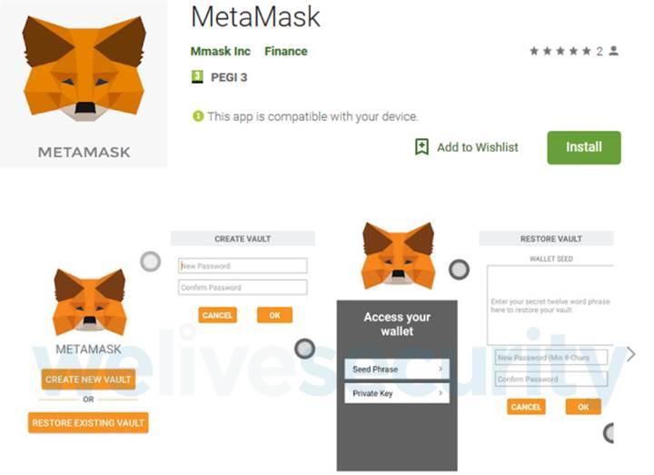 Sahte MetaMask uygulaması kripto cüzdanlarınızı boşaltıyor