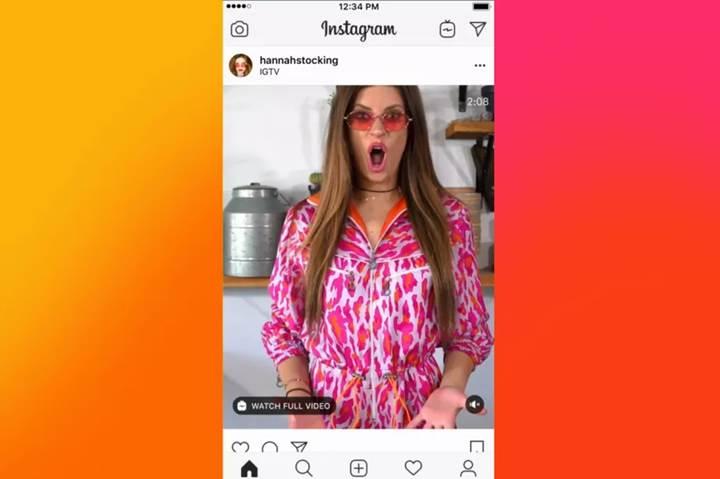 Instagram, IGTV videolarını anasayfada göstermeye başladı