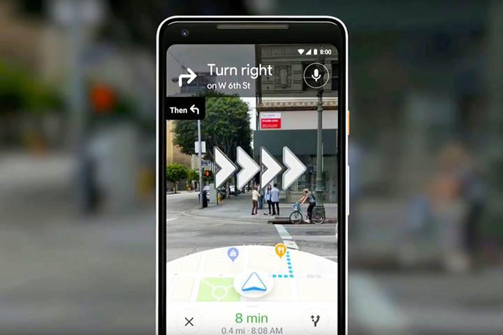 """Google Haritalar'ın artırılmış gerçeklik sürümü, """"Yerel Rehberler"""" aracılığıyla test ediliyor"""