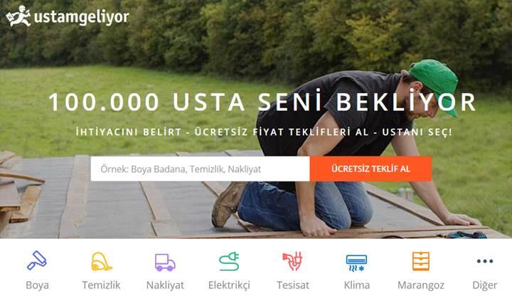 Türkiye'nin 81 İlinde Dev Hizmet Ağı: Ustamgeliyor.com