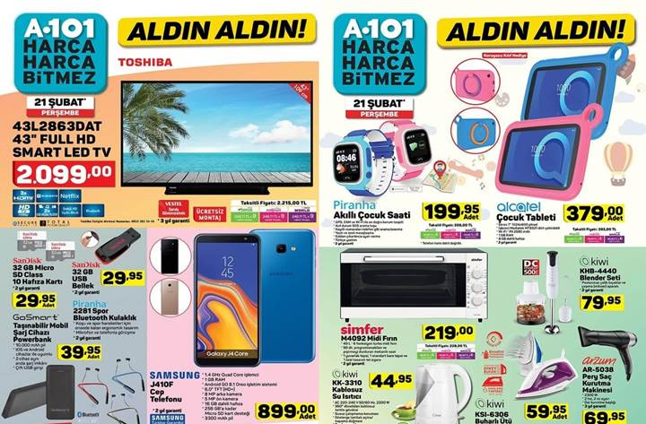 Haftaya BİM ve A101 mağazalarında çok uygun fiyata farklı teknolojik ürünler var