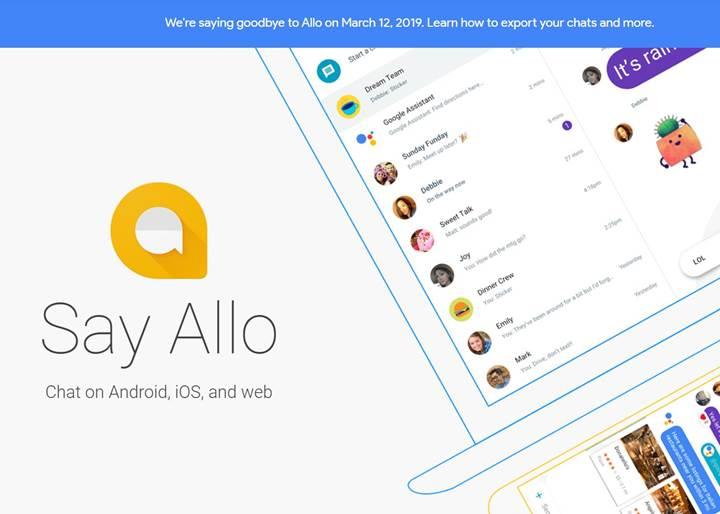 Google'ın mesajlaşma platformu Allo bugün itibarıyla kapanıyor