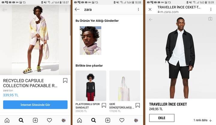 Instagram'ın alışveriş özelliği Türkiye'de
