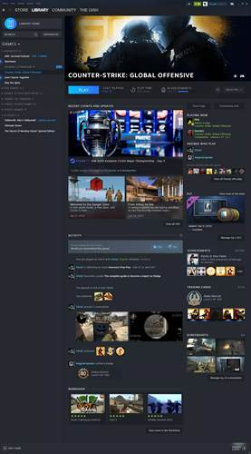 The Steam Library design is finally changing