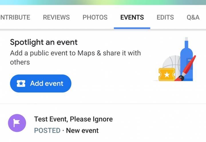 Google Haritalara etkinlik ekleme özelliği geliyor