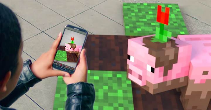 Artırılmış Gerçeklik tabanlı Minecraft oyununun tanıtıcı videosu yayınlandı