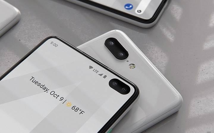 Galaxy S10 tasarımlı Pixel 4 geliyor