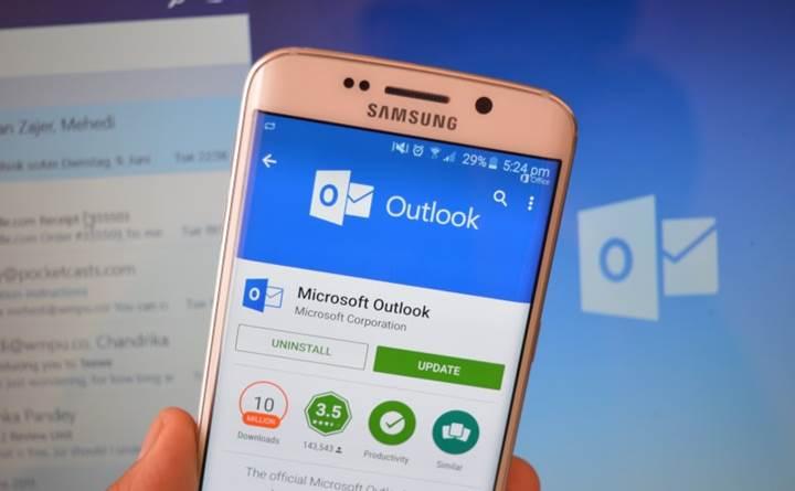 Outlook uygulamasının Android versiyonuna, beklenen özellikler geldi