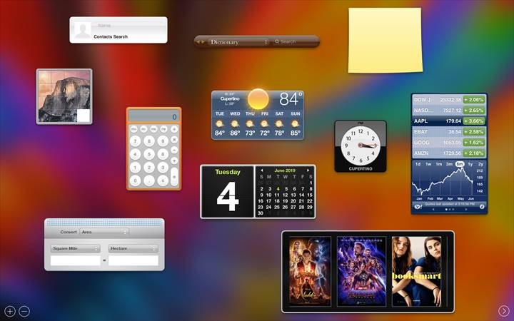 Apple: macOS Catalina ile Dashboard Özelliğini Kaldırıyor.