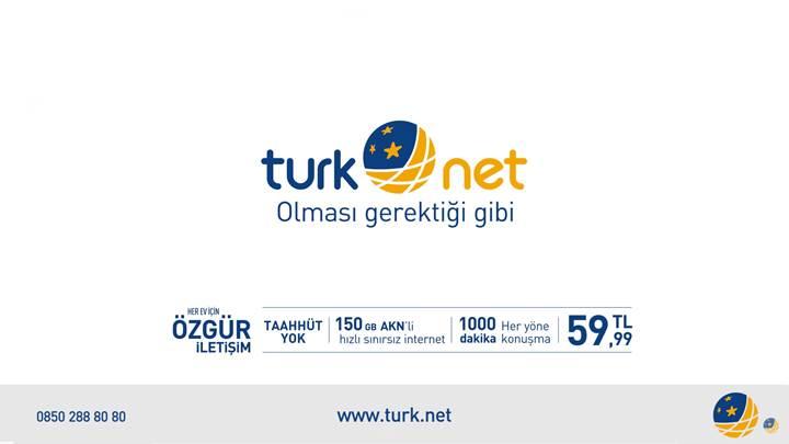 TurkNet'ten taahhütsüz, 150GB AKK'li internet