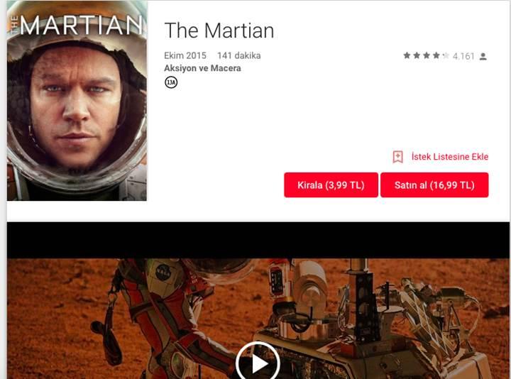 Google Play Filmler ülkemizde kullanıma açıldı