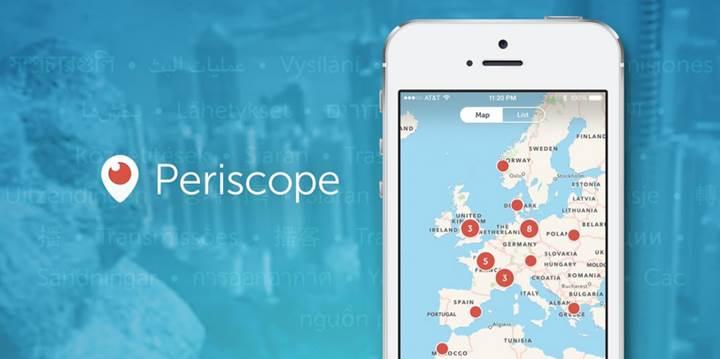 Periscope canlı yayın kayıtları artık sonsuza kadar saklanabilecek