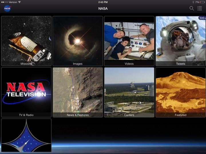 NASA uygulaması Apple TV'de