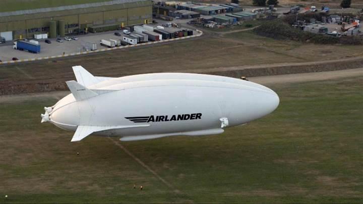 Dünyanın en büyük hava taşıtı Airlander 10 ilk test uçuşunu yaptı