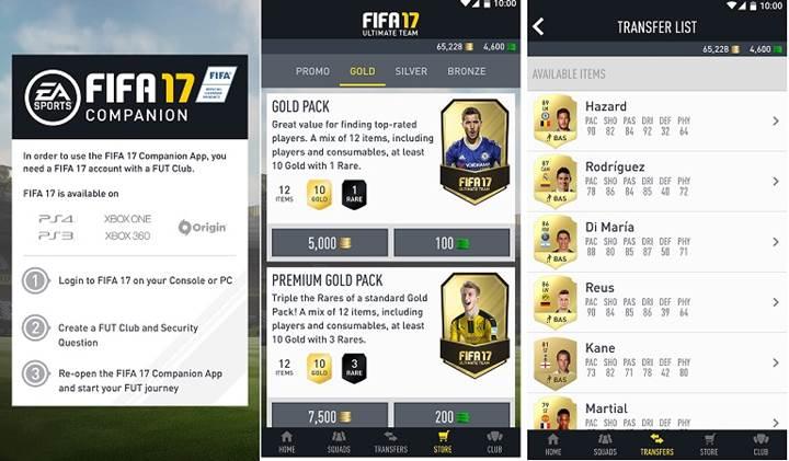 FIFA 17 yardımcı uygulaması indirmeye sunuldu