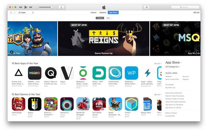 Apple'ın seçimi ile 2016 yılının en iyi oyunları ve uygulamaları