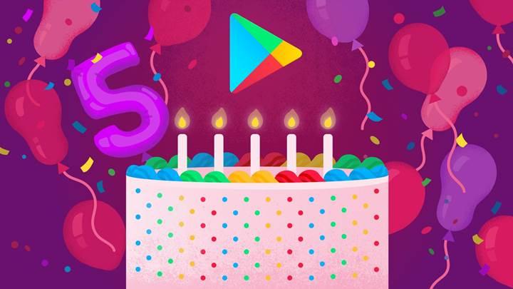 Google Play 5. yılını kutluyor, işte en çok indirilen oyun ve uygulamalar