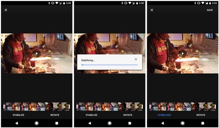 Google Fotoğraflar etkileyici video sabitleme yapabiliyor