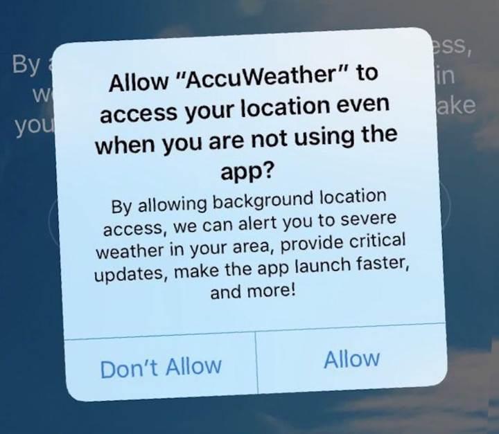 AccuWeather uygulamasının konum bilgilerini izinsiz sattığı anlaşıldı