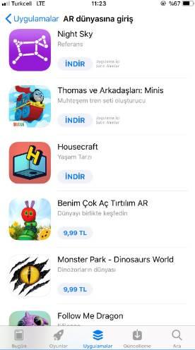 iPhone için 10 adet Arttırılmış Gerçeklik (AR) uygulaması