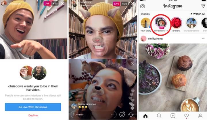 Instagram canlı yayınlarına yeni bir özellik eklendi