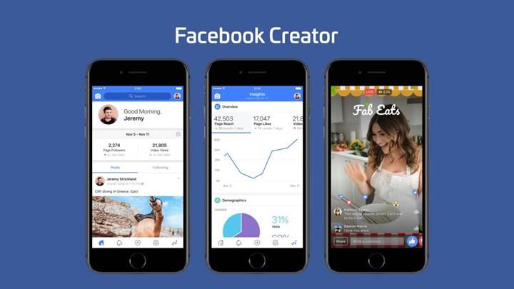 Facebook'dan video yayıncılarına özel uygulama: Facebook Creator