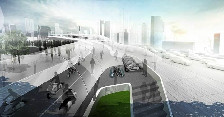 BMW'den trafik sorununa fütüristik yaklaşım: BMW Vision E³ Way