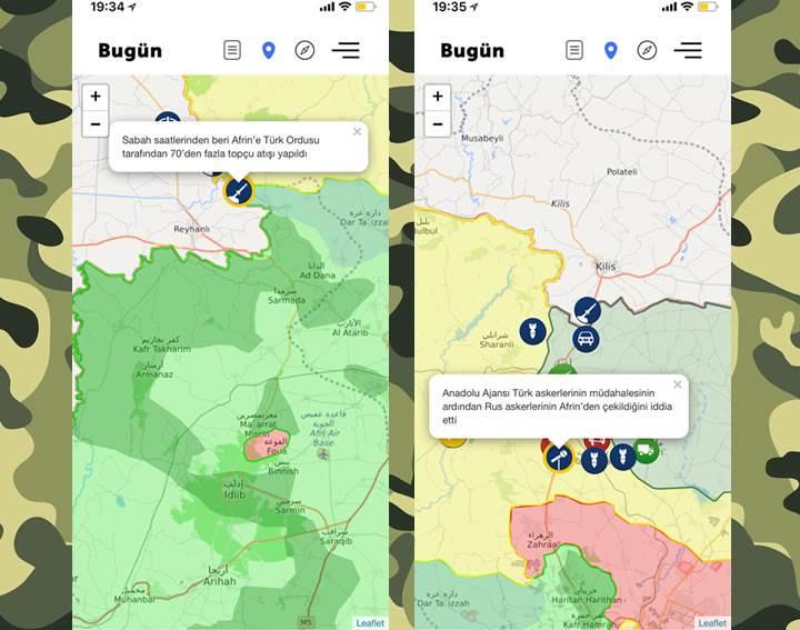 Afrin Operasyonu ile ilgili gelişmeleri askeri operasyon haritasından anlık takip edin